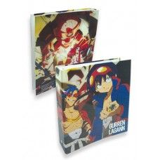 Save the world - and your papers - with this colorful Gurren Lagann Crew binder!