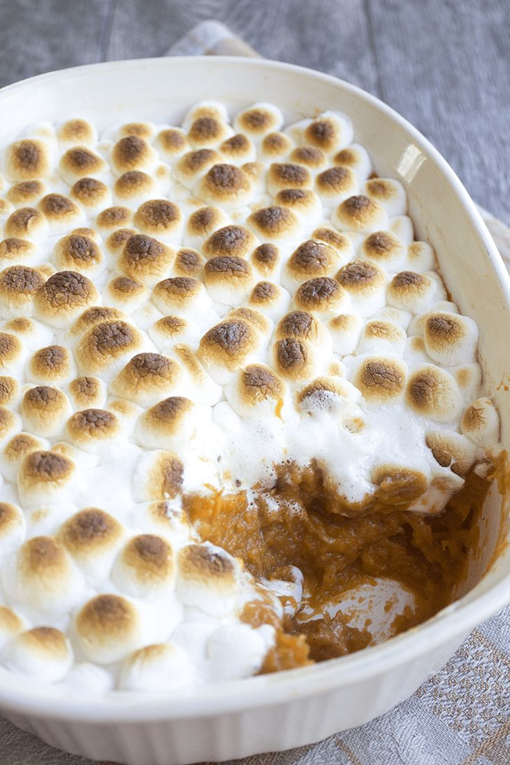 Marshmallow & Caramel Sweet Potato Casserole is a must make fall side dish perfect for the holidays!