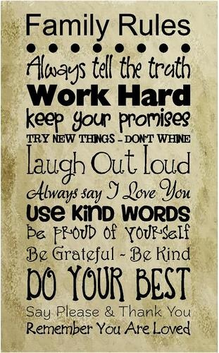 Family rules: Wall Art, Art Dl, Life, Wall Decals, Quote, Thought, House Rules, Families, Family Rules