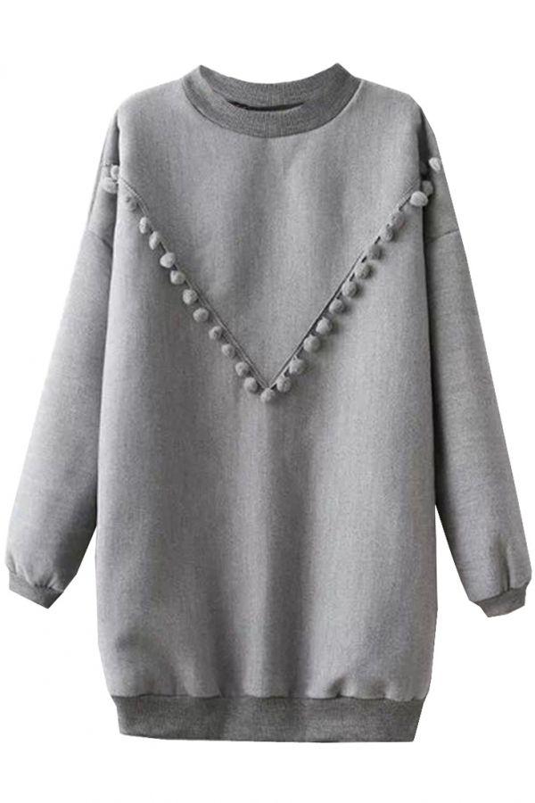 Casual Oversized Long Sweatshirt - GLAMOURIZE