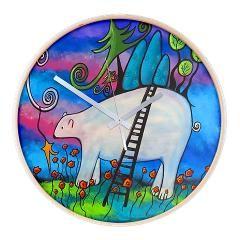 A Polar Bear Welcome Wall Clock> Wall Clocks> Juli Cady Ryan