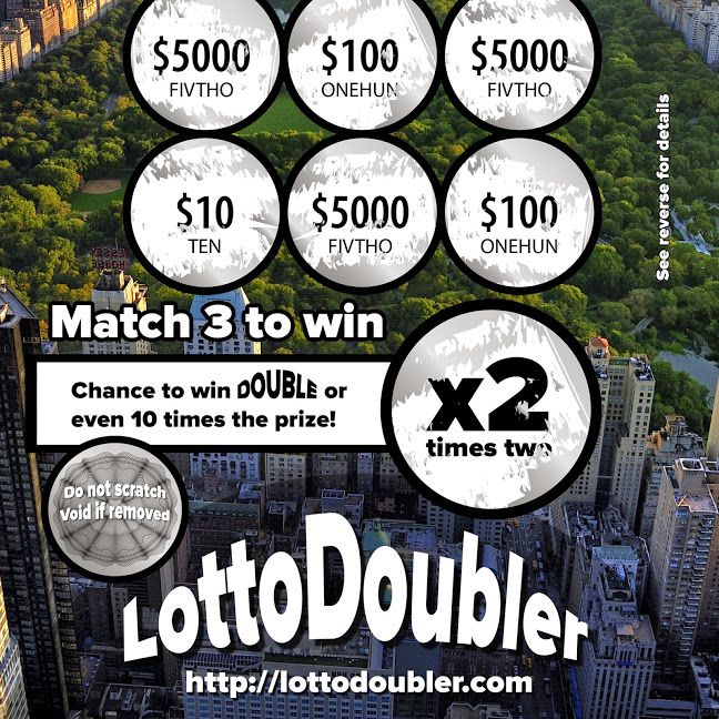 Lotto Doubler instant lottery | Suddenly.. New York City prototype scratch ticket LOGOTYPE - AFTER SCRATCH  http://lottodoubler.com http://google.com/+Lottodoubler   #suddenly   #millionaire   #lottodoubler   #lotto   #lottery   #instantlottery   #newyork   #newyorkcity   #manhattan   #NY   #NYC