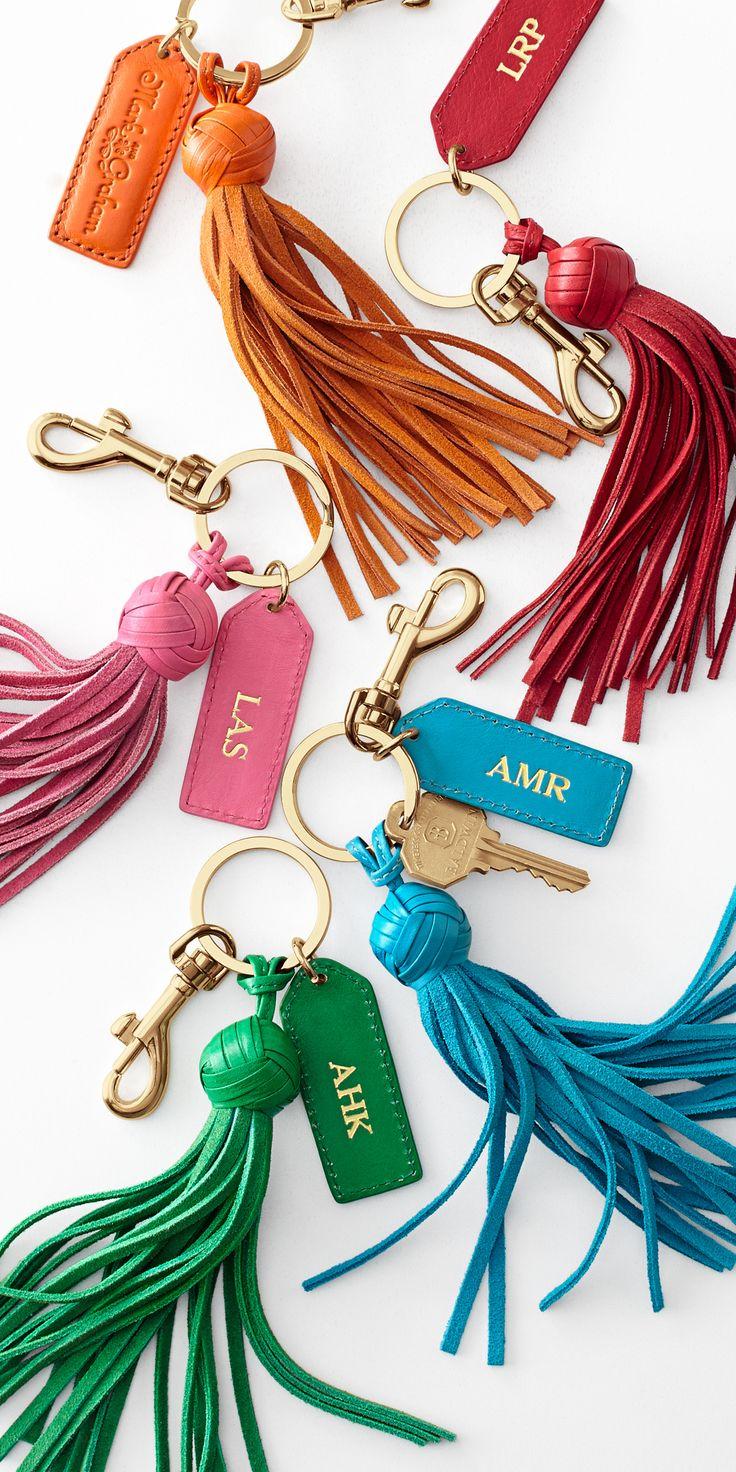 Leather #monogrammed tassels #MyMarkandGraham                                                                                                                                                                                 More