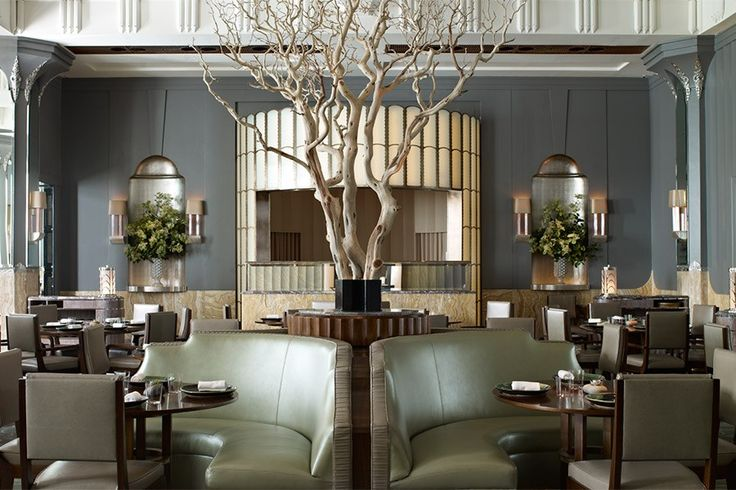 """Fera, London Guy Oliver admits that Fera, the new farm-to-table restaurant in London's legendary Claridge's hotel, didn't appear to be a natural fit at first. """"Interior design is about telling a story, and Fera was a challenging story to tell,"""" he says. But the British designer managed to tell it in spectacular fashion, highlighting both the history of the space and chef Simon Rogan's seasonal cuisine."""