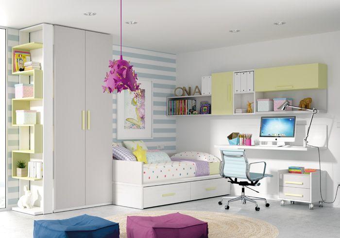 Kibuc muebles y complementos dormitorio juvenil ringo - Lamparas habitaciones infantiles ...