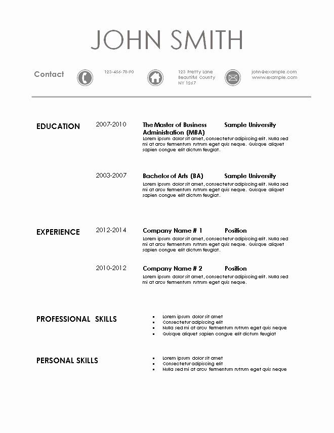 Easy Resume Template Free New Simple Resume Template In 2020 Simple Resume Template Resume Template Free Resume Template
