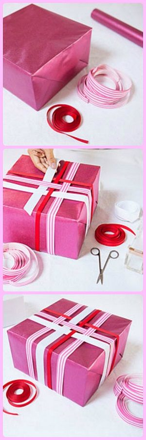 Make use of old wrapping paper and ribbon with this gift wrapping idea from @Jò in Wonderland Cho / Oh Joy!.