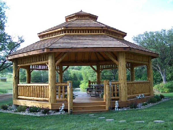 Gazebo Kits | Log Octagon Gazebo Kit
