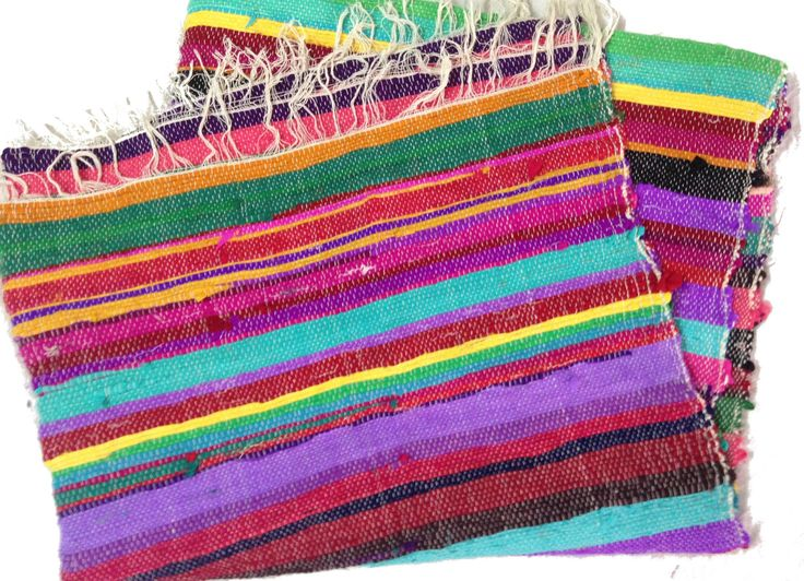 If you can believe it, these bursts of color are made from upcycled cotton saris. They are one-of-a-kind and are loaded with the vibrant colors seen all over India. They are handmade by women who work