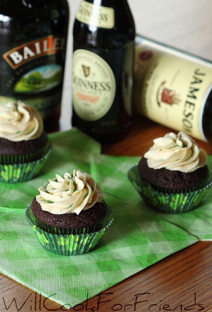 Irish Car Bomb Cupcakes - Boozy Baking - Will Cook For Friends