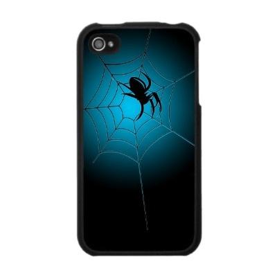 Black Spider on Web Funny Creepy Iphone 4 Skin