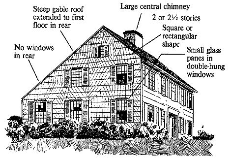 339 best historic colonial new england saltbox for Historic house plans reproductions