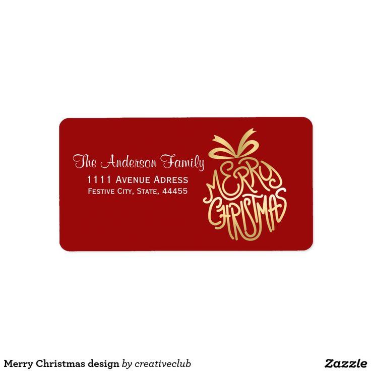 Merry Christmas design #merrychristmas #happyholidays #seasonsgreetings #greetinglabel