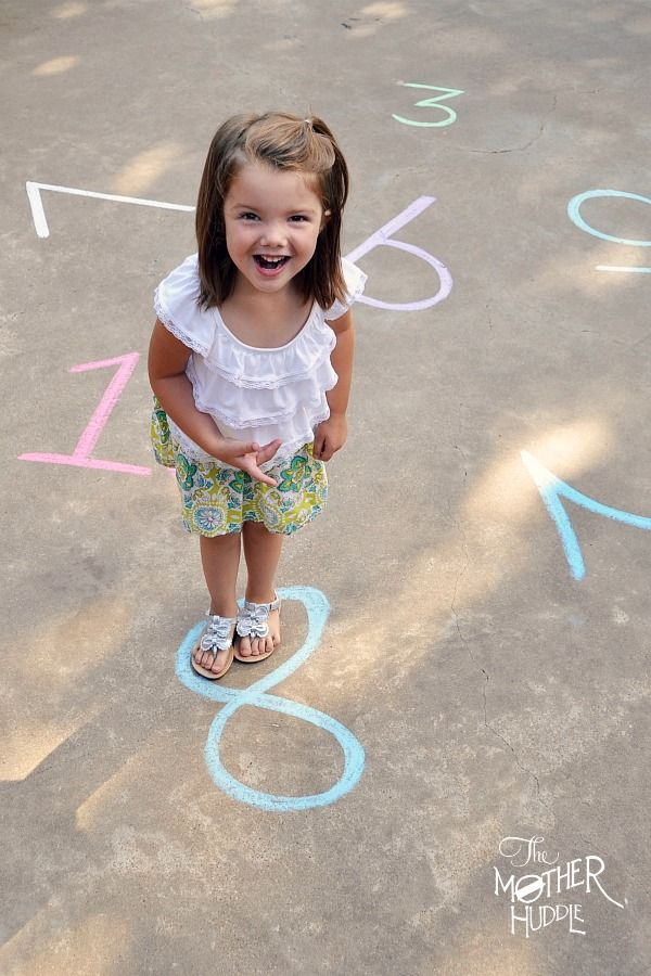 Chalk Number Recognition Activity- I love this idea, especially for kids like my Thatcher who can't say their numbers. This is a great way to assess what they know and where they need more help. Would be great with a few letters at a time too.