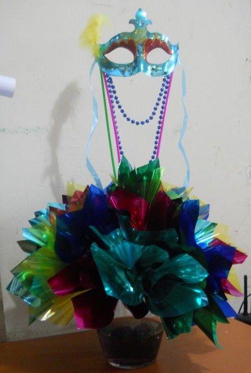 Carnaval centro de mesa