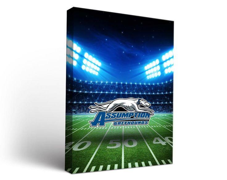 Assumption College Greyhounds Football Stadium Canvas Art Rectangle