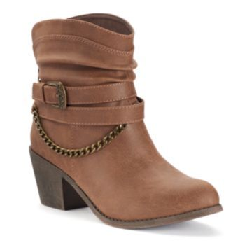 Love the chain! SO+Women's+Slouch+Ankle+Boots