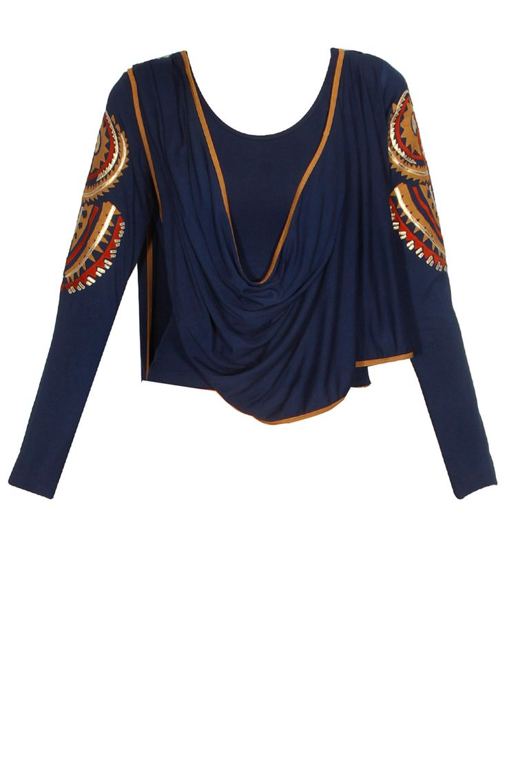 Navy blue maori magic T-shirt cape available only at Pernia's Pop Up…