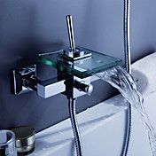 moderne foss badekar armatur med glass tut (v... – NOK kr. 658