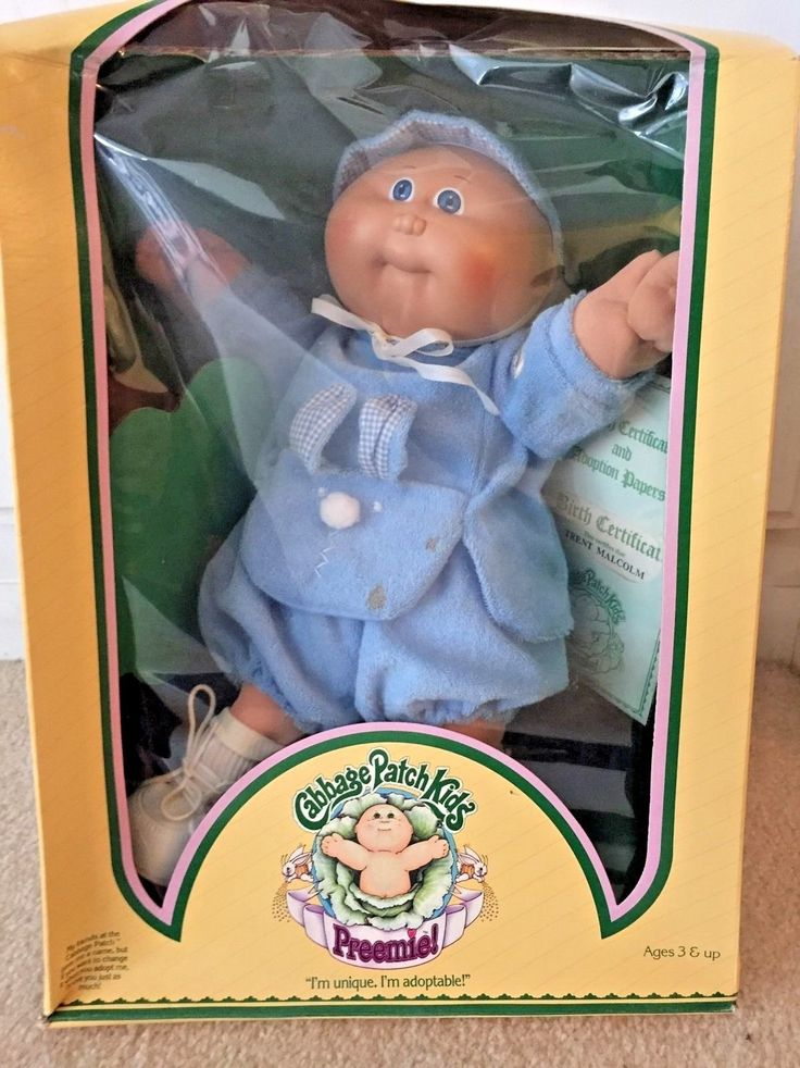 Vintage 1983 Cabbage Patch Kids Doll Named Trent Malcolm- Preemie | eBay