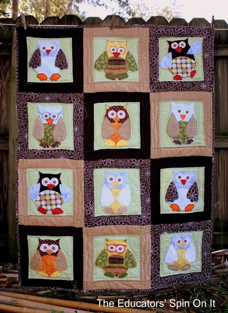 An owl quilt for baby to be