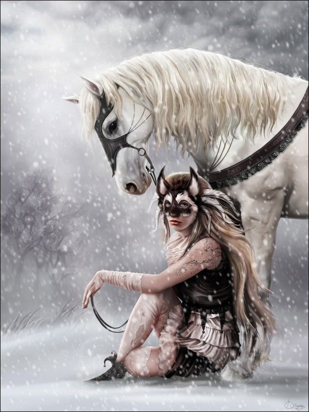 """NICEVENN (""""Divine"""" """"Brilliant"""") was a Scottish Samhain Witch-Goddess; equated with the Roman Goddess Diana. In Scotland she is said to ride through the night with her followers at Samhain."""