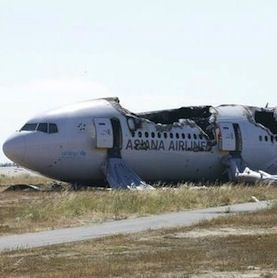 Most passengers can survive even a severe plane crash, such as Asiana Airlines Flight 214, which crash-landed on July 6, 2013, at SFO.