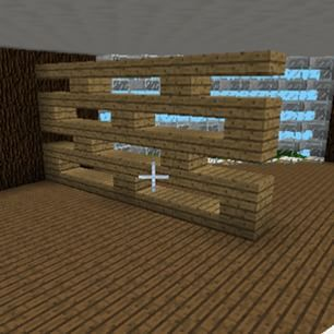 Neat Shelving Unit In Minecraft