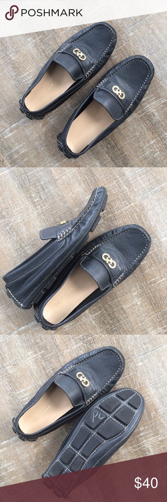 NWOT! Cole Haan leather drivers Never worn! NWOT Cope Haan leather drivers (loafers). Size 7.5 B (normal width). Color is between black and navy, so they can go with either! Offers welcome! Cole Haan Shoes Flats & Loafers