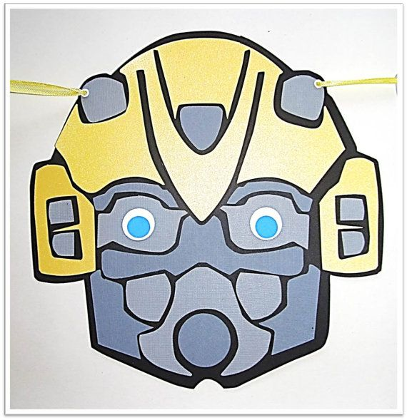 Transformers Bumblebee Birthday Banner By