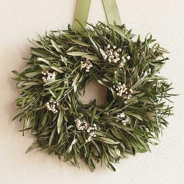 Olive Wreath - eclectic - Holiday Outdoor Decorations - VivaTerra