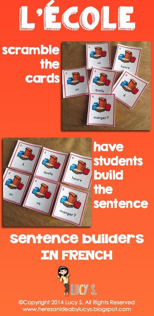 $ FRENCH L'école - Sentence Builders (EDITABLE) & Mini-Books - introduce/review school-related vocabulary. Have students unscramble sentences, read mini-books and color their own versions!