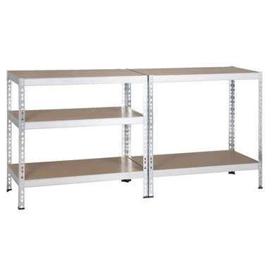 Zwaar metalen opbergrek - 180x91x45 cm
