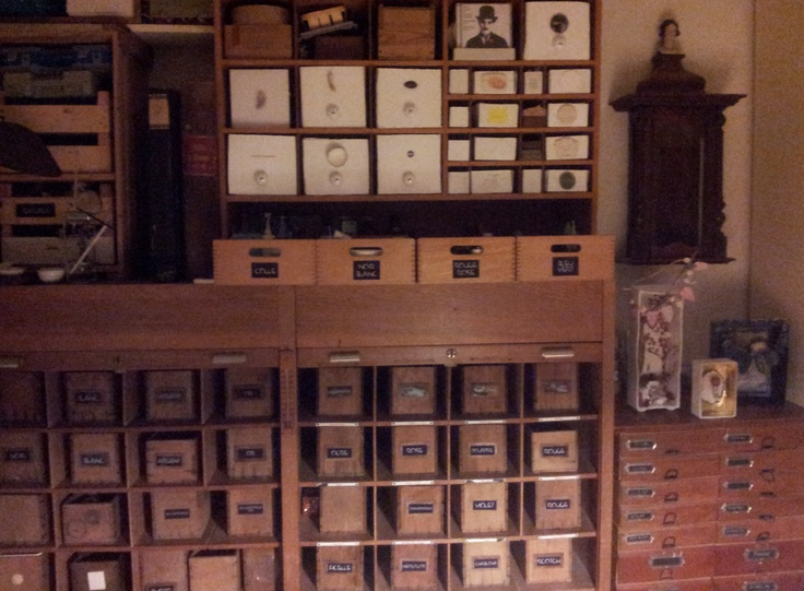 Storage of my material in craftsman furniture