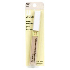 Almay Clear Complexion Oil Free Concealer, Light 100, 0.18-Ounce Package by Almay. Save 6 Off!. $7.49. Dot on skin over blemishes. Gently blend into skin with ring finger.. An oil-free spot Concealer that targets your blemishes with salicylic acid to speed healing, while never blocking pores.. Infused with meadowsweet to help purify and Clear skin as well as cAlmaying boTanicals such as chamomile and aloe to soothe irritation.. Not for use near Eyes.. The sponge tip wand delivers th...