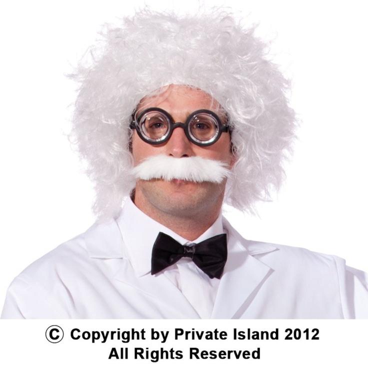 Einstein Wig and Mustache 6021