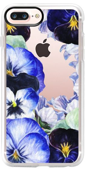 Casetify iPhone 7 Plus Case and iPhone 7 Cases. Other Floral iPhone Covers - Watercolor Pansy Floral by Pink Water | Casetify