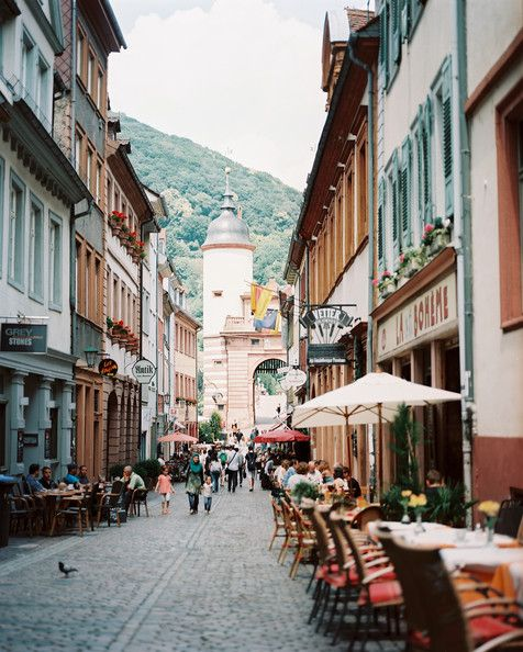 City Street Photo - The cobblestone streets of Heidelberg, Germany