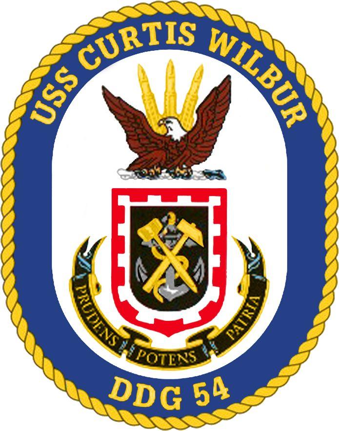 USS Curtis Wilbur ЗГД-54 Crest.png