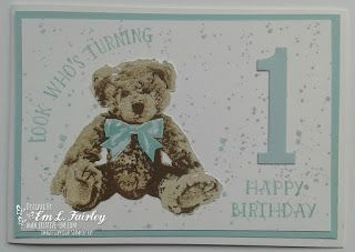 Creative Em: Look Who's Turning 1 with Baby Bear, Number of Years and Gorgeous Grunge from Stampin' Up!