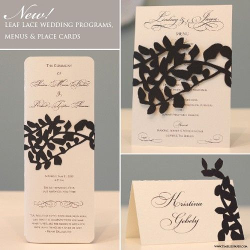 Timeless Paper ...beautiful paper cut invitations