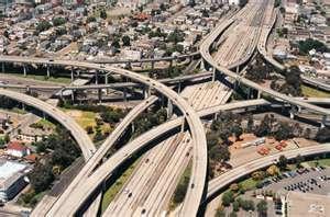 M6 (spaghetti junction) from Birmingham, England