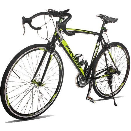 Merax Finiss Aluminum 21 Speed 700C Road Bike Racing Bicycle Shimano, Black