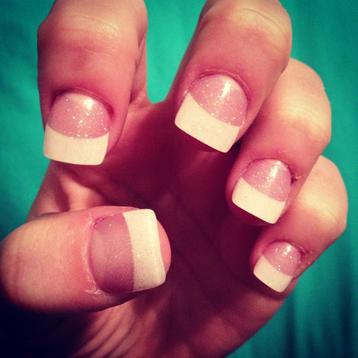 Cute White Tip Nails: White French Tip Acrylic Nails