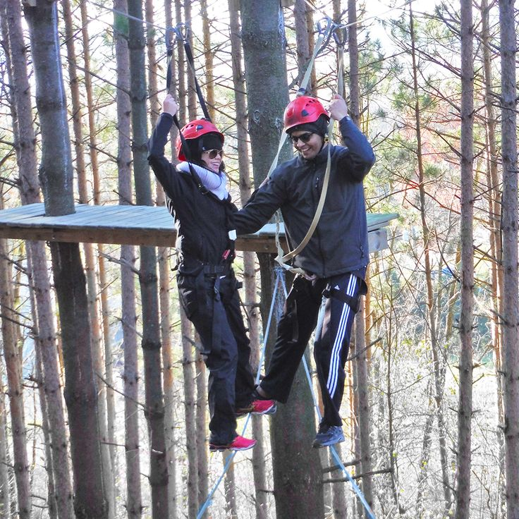 It's no secret that sharing a thrilling experience can bring people closer together. The only question is...are you up for a #winter challenge on our High Ropes Course?  #LakeGenevaCanopyTours #LakeGeneva #RopesCourse #Challenge #WinterActivities #Outdoors