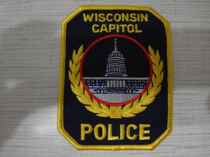 Patch Shoulder Flash Wisconsin Capitol Police Polizei Policja Politie Polizia  | eBay