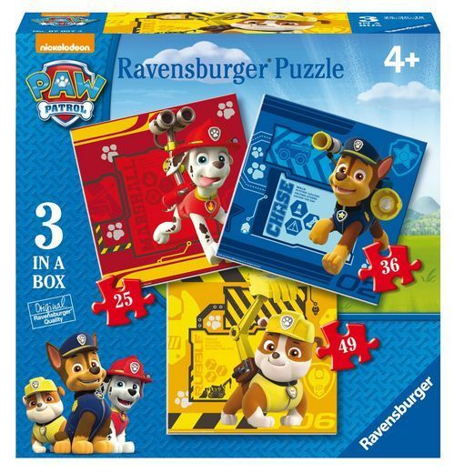 Puzzle Ravensburger 3en1 progresivo de Paw Patrol La Patrulla Canina