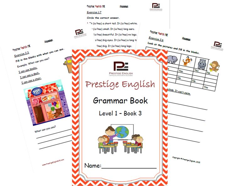 English Grammar Book – Level 1 – Book 3