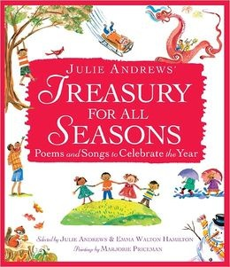 Julie Andrews' Treasury for All Seasons: Poems and Songs to Celebrate the Year: I just discovered this book a couple days ago and decided to give it to my daughter's for Valentine's Day. The artwork is so lovely and I adore the simple little verses for each season of the year. It's a gorgeous hardcover book that makes such a special gift for little ones--something meant to be treasured and taken care of. What sort of treats do you give your little sweeties for Valentine's Day?