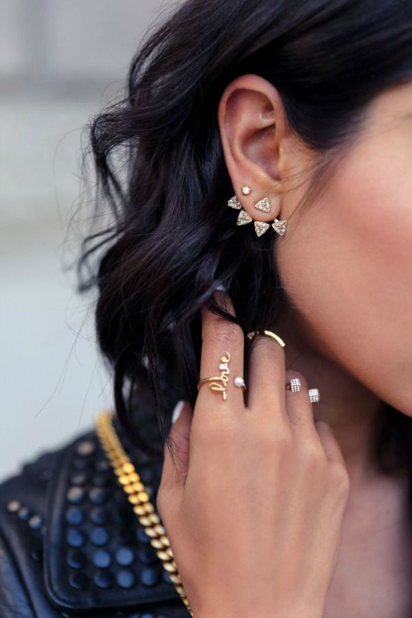 Accessory Obsession: Front-to-Back Earrings | Blushing Beauty